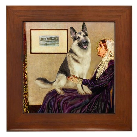 Mom's German Shepherd Framed Tile