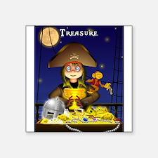 Pirate and Treasure Sticker
