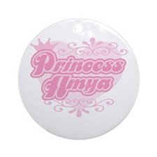"""Princess Amya"" Ornament (Round)"