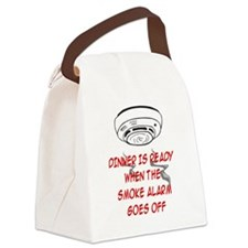 DINNER IS READY WHEN THE SMOKE AL Canvas Lunch Bag