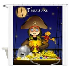 Pirate and Treasure Shower Curtain