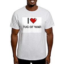 I Love Tug Of War Digital Retro Design T-Shirt