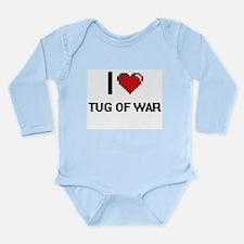 I Love Tug Of War Digital Retro Design Body Suit