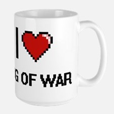 I Love Tug Of War Digital Retro Design Mugs