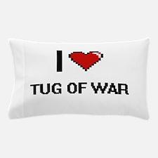 I Love Tug Of War Digital Retro Design Pillow Case
