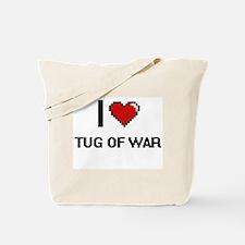 I Love Tug Of War Digital Retro Design Tote Bag