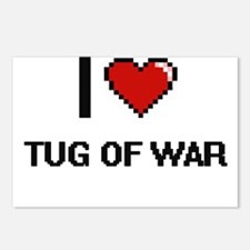 I Love Tug Of War Digital Postcards (Package of 8)