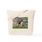 Lilies & G-Shep Tote Bag