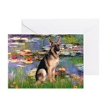 Lilies & G-Shep Greeting Cards (Pk of 10)