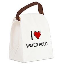 I Love Water Polo Digital Retro D Canvas Lunch Bag