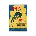 Leap Don't Lag Frog Rectangle Magnet