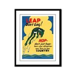 Leap Don't Lag Frog Framed Panel Print