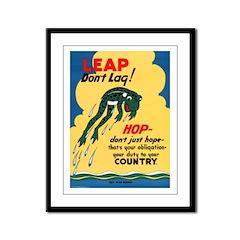 Leap Don't Lag Frog Framed Panel Print