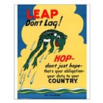 Leap Don't Lag Frog Small Poster