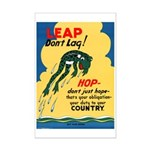Leap Don't Lag Frog Mini Poster Print