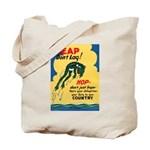 Leap Don't Lag Frog Tote Bag