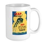 Leap Don't Lag Frog Large Mug