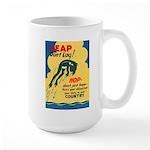 Leap Don't Lag Frog Large Mug