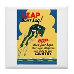 Leap Don't Lag Frog Tile Coaster