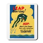 Leap Don't Lag Frog Mousepad
