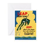 Leap Don't Lag Frog Greeting Cards (Pk of 10)