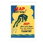 Leap Don't Lag Frog Postcards (Package of 8)