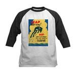 Leap Don't Lag Frog Kids Baseball Jersey