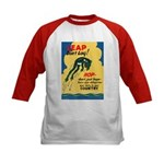 Leap Don't Lag Frog (Front) Kids Baseball Jersey