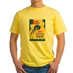 Leap Don't Lag Frog Yellow T-Shirt