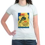 Leap Don't Lag Frog Jr. Ringer T-Shirt