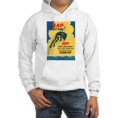 Leap Don't Lag Frog Hoodie