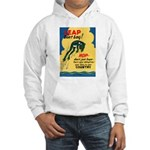 Leap Don't Lag Frog (Front) Hooded Sweatshirt