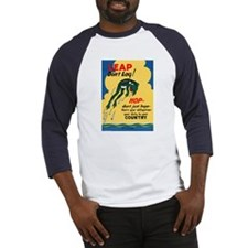 Leap Don't Lag Frog (Front) Baseball Jersey