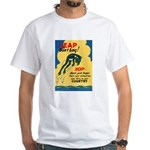 Leap Don't Lag Frog White T-Shirt