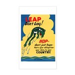 Leap Don't Lag Frog Rectangle Sticker