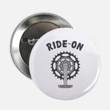 "Ride On Cycling / Bicycling 2.25"" Button (10 pack)"