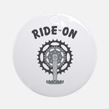 Ride On Cycling / Bicycling Ornament (Round)