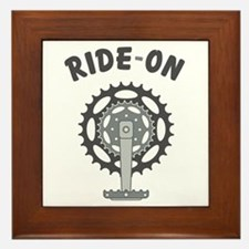 Ride On Cycling / Bicycling Framed Tile