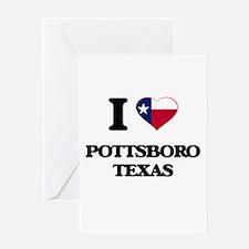 I love Pottsboro Texas Greeting Cards