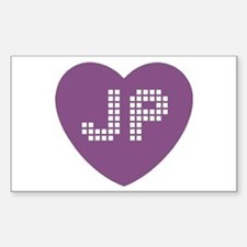 JP Heart Decal