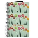 Cute monogram Journals & Spiral Notebooks