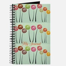 Watercolor Roses Floral Panels Journal