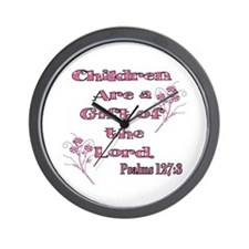 Children are a gift of the Lo Wall Clock
