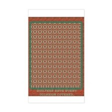 Country Christmas Quilter Covered Decal