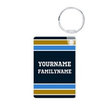 Navy Blue Gold Sports Jers Keychains