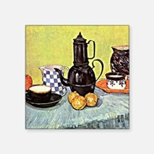 "Van Gogh - Still Life with  Square Sticker 3"" x 3"""