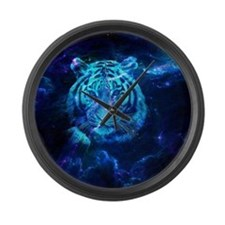 White lion Large Wall Clock