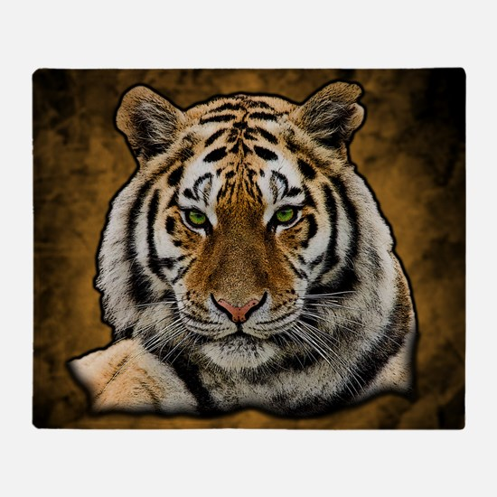 Cute Lion and tiger Throw Blanket