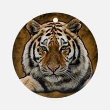 Cool Tiger Round Ornament