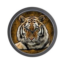 Cute Tiger cat Wall Clock
